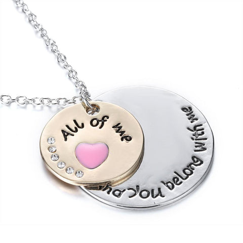 """And you belong with me"" Inspirational Neclace"