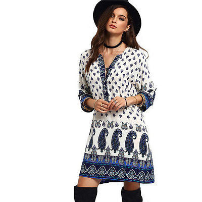 Bohemian Loose Women Summer Ethnic Dress