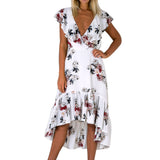 Boho Floral Printed Summer Dress