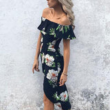 Floral Print Ruffled Summer Dress
