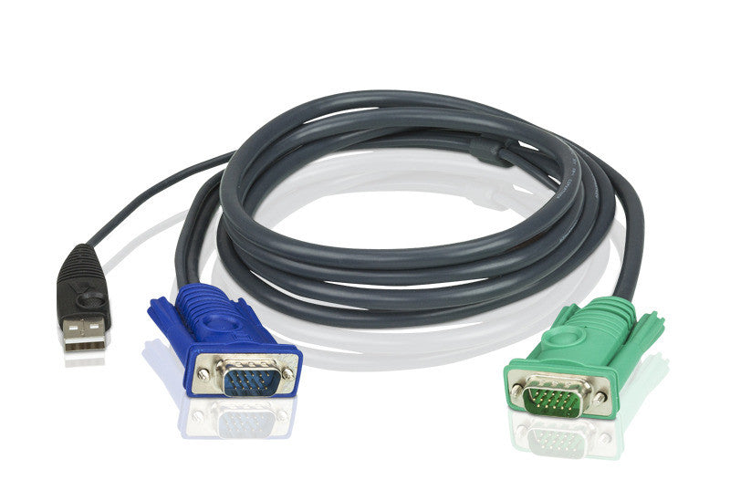 5M USB KVM Cable with 3 in 1 SPHD - 2L-5205U