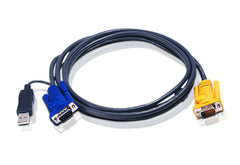 6M USB KVM Cable with 3 in 1 SPHD and built-in PS/2 to USB converter - 2L-5206UP (EX-VAT)