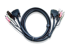 1.8M USB DVI-D Single Link KVM Cable - 2L-7D02U (EX-VAT)