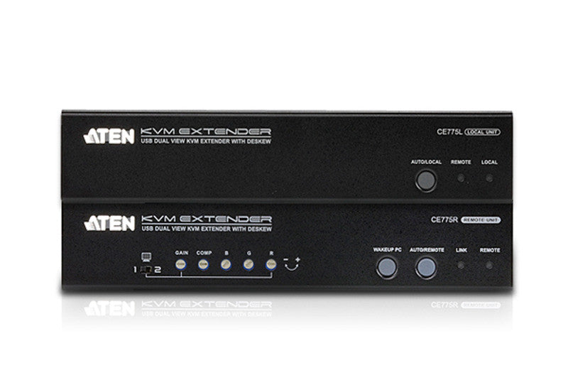 USB VGA Dual View Cat 5 KVM Extender with Deskew (1280 x 1024@300m) - CE775 (EX-VAT)