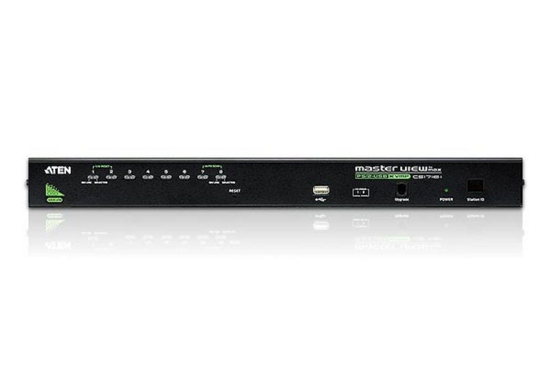 8-Port PS/2-USB VGA KVM Switch with Daisy-Chain Port and USB Peripheral Support - CS1708A (EX-VAT)