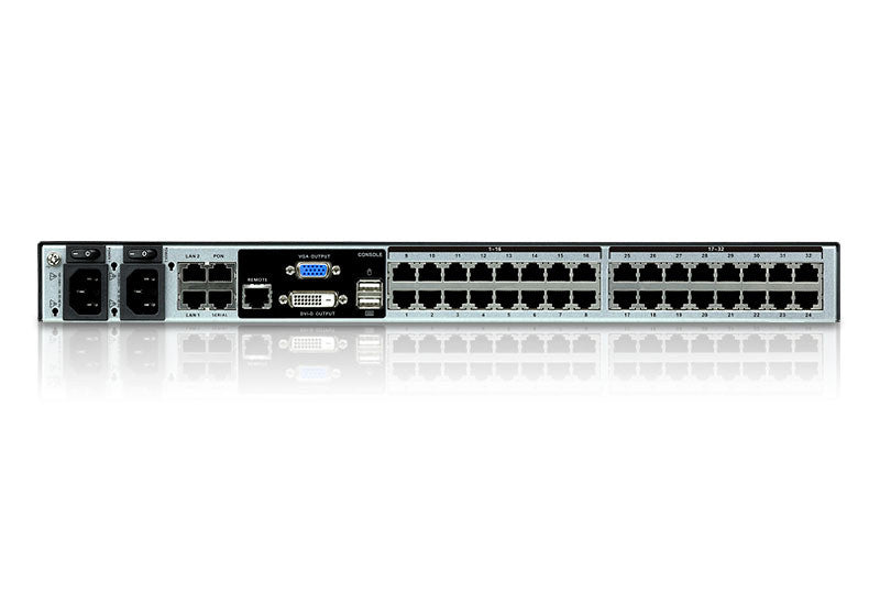 1-Local /8-Remote Access32-Port Cat 5 KVM over IP Switch with Virtual Media (1920 x 1200) - KN8132V