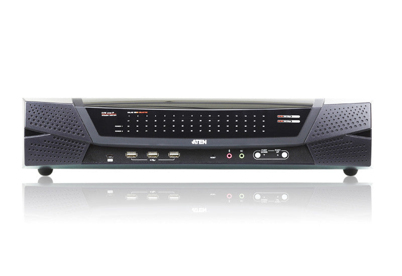 1-Local /8-Remote Access 64-Port Cat 5 KVM over IP Switch with Virtual Media (1920 x 1200) - KN8164V