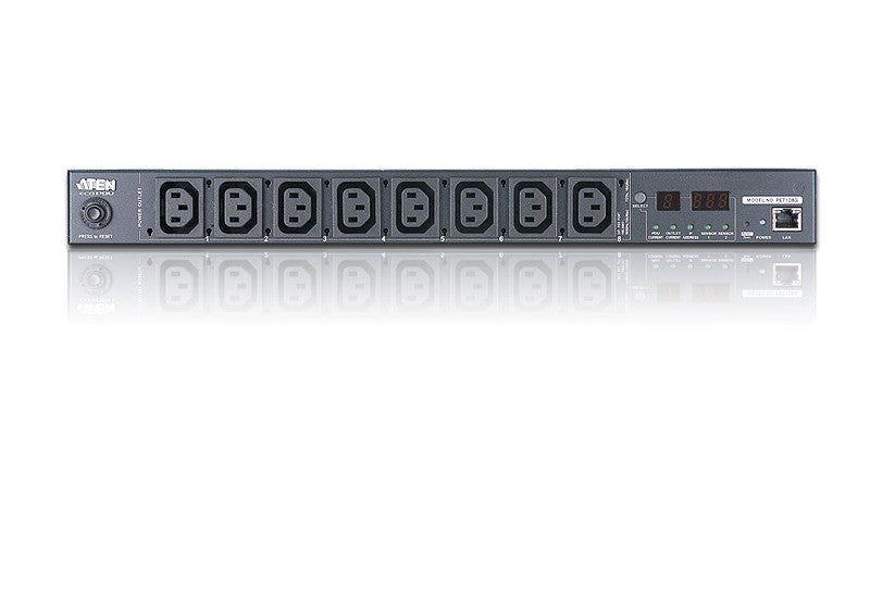 15A/10A 8-Outlet 1U Outlet-Metered eco PDU - PE7108