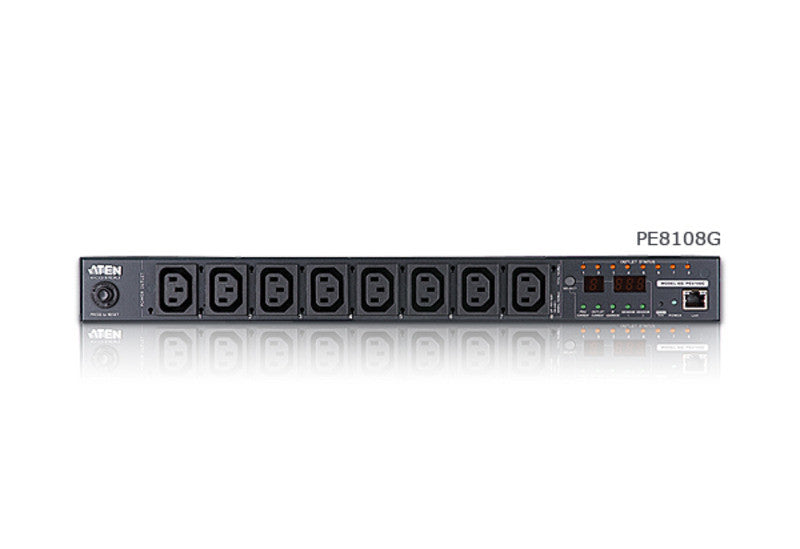 15A/10A 8-Outlet 1U Outlet-Metered & Switched eco PDU - PE8108 (EX-VAT)