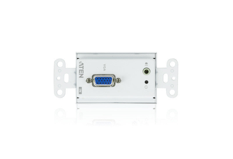 VGA/Audio Cat 5 Transmitter Wall Plate (US) (1280 x 1024@150m) - VE156T
