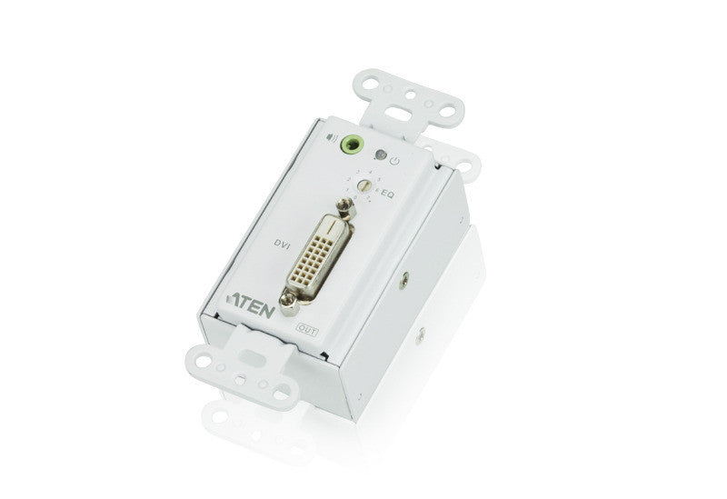 DVI/Audio Cat 5 Receiver Wall Plate (US) (1920 x 1200@40m) - VE606R
