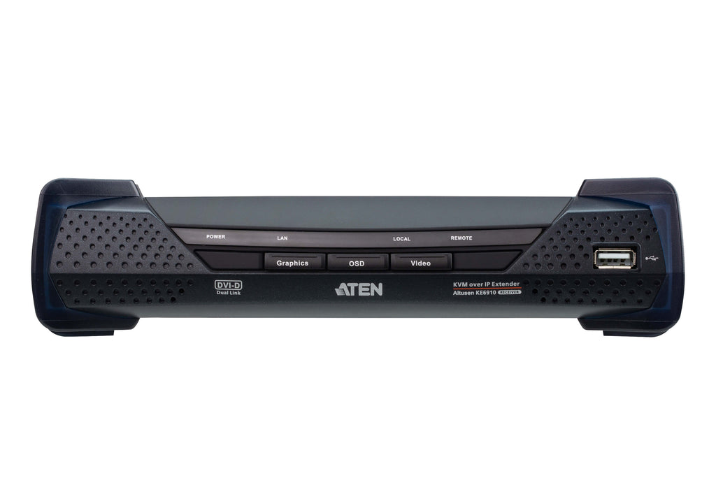 2K DVI-D Dual Link KVM over IP Receiver - KE6910R