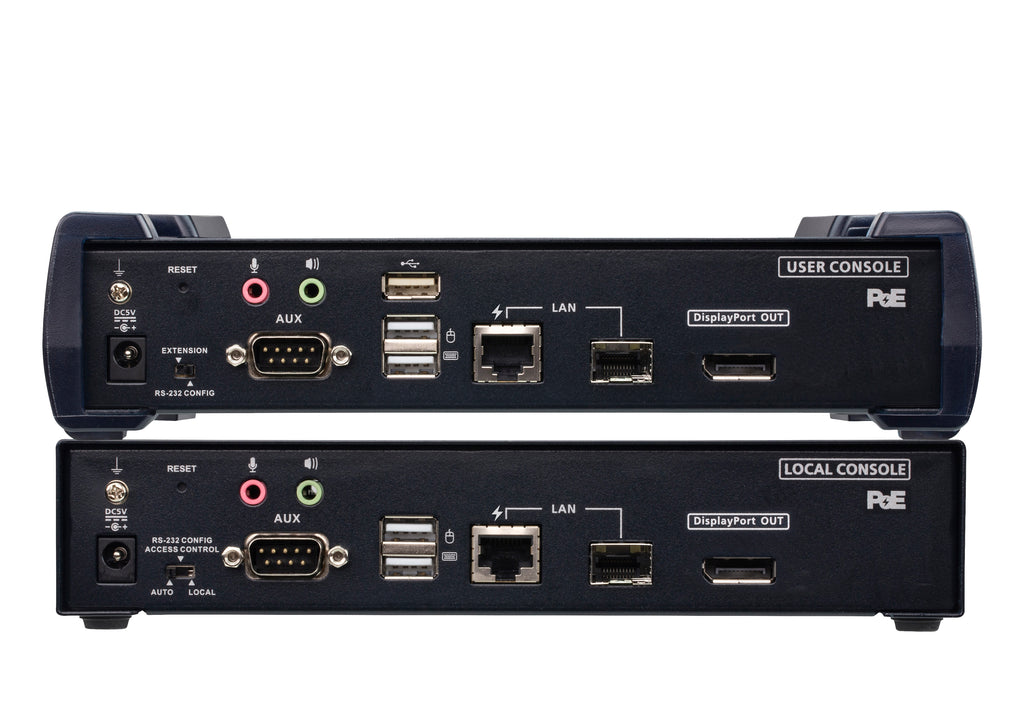 4K DisplayPort Single Display KVM over IP Extender with PoE - KE9952