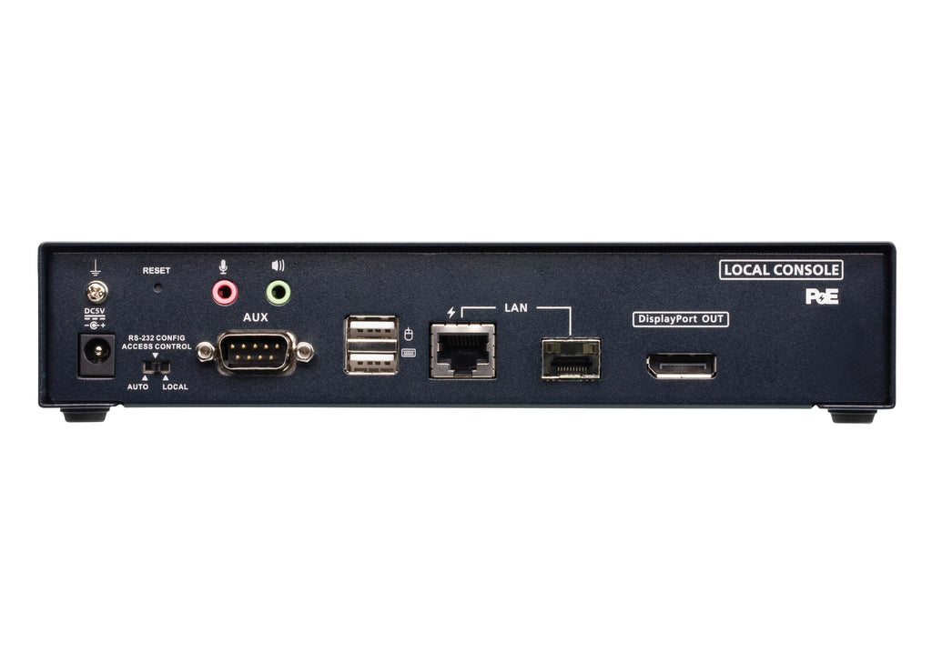 4K DisplayPort Single Display KVM over IP Transmitter with PoE - KE9952T