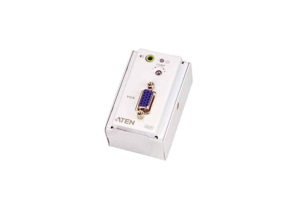 VGA/Audio Cat 5 Extender with MK Wall Plate (1280 x 1024 @150 m) - VE157