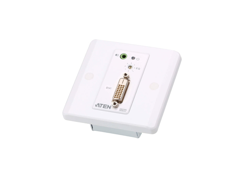 DVI/Audio Cat 5 Extender with MK Wall Plate (1920 x 1200 @ 40m) - VE607