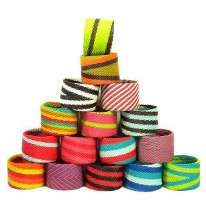 Large Clunky Colorful Telephone Wire Bracelets