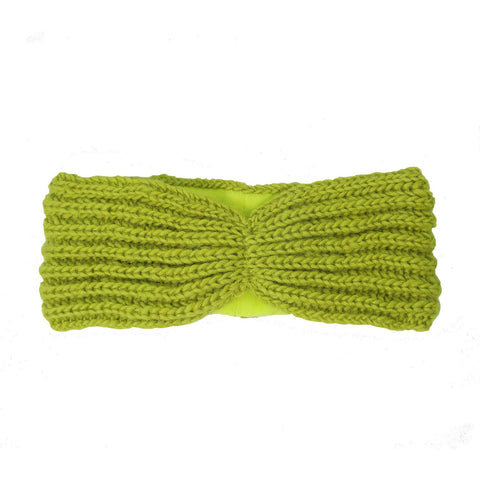 Lined Turban Headband - Citron - WorldFinds (W) - Green Sea Eco