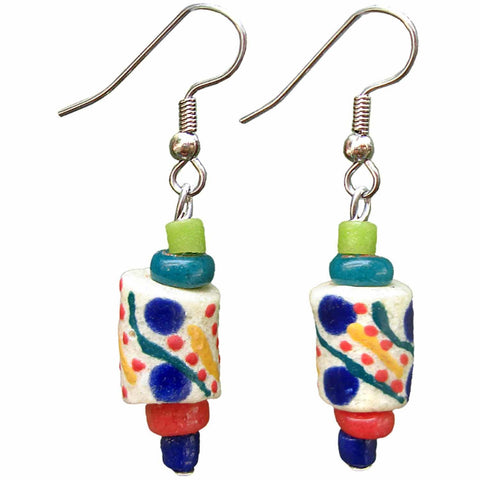 Festival Earrings - Rainbow - Global Mamas - Green Sea Eco