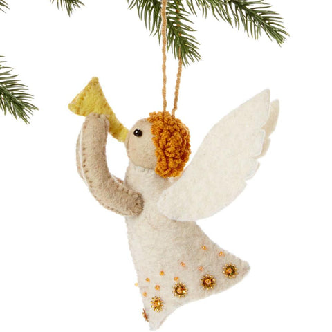 Angel Felt Holiday Ornament - Silk Road Bazaar (O) - Green Sea Eco