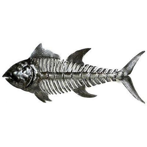 Fish Bones Metal Art Handmade and Fair Trade