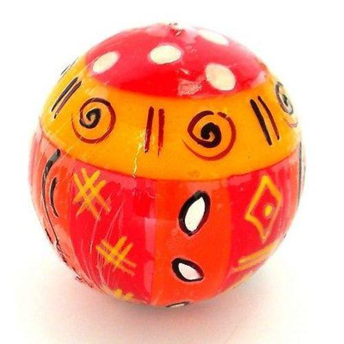 Hand-Painted Ball Candle - Zahabu Design Handmade and Fair Trade