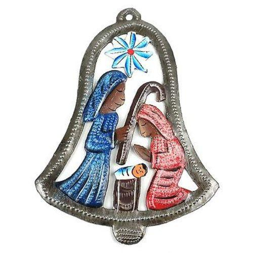 Hand Painted Bell Nativity Wall Art Handmade and Fair Trade