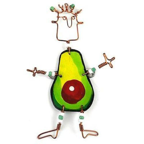 Dancing Girl Avocado Pin Handmade and Fair Trade
