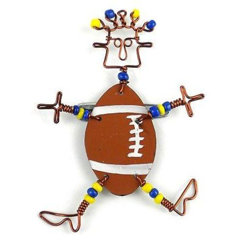 Dancing Girl American Football Pin Handmade and Fair Trade