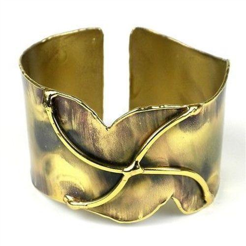 Brass Pinwheel Cuff Handmade and Fair Trade