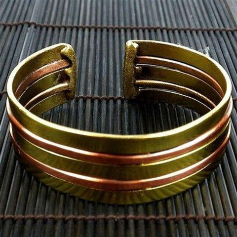 Copper and Brass Architecture Cuff - Brass Images (C) - Green Sea Eco