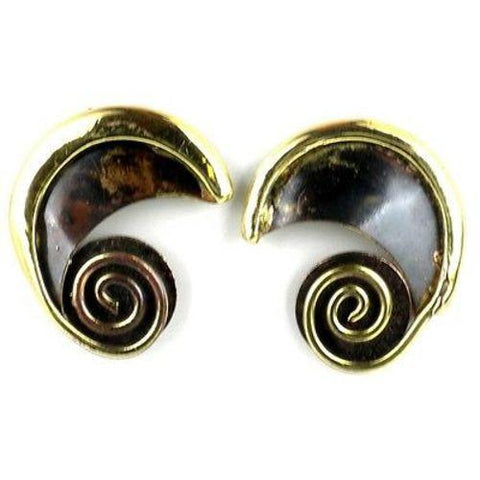 Evolution Brass Post Earrings - Brass Images (N) - Green Sea Eco