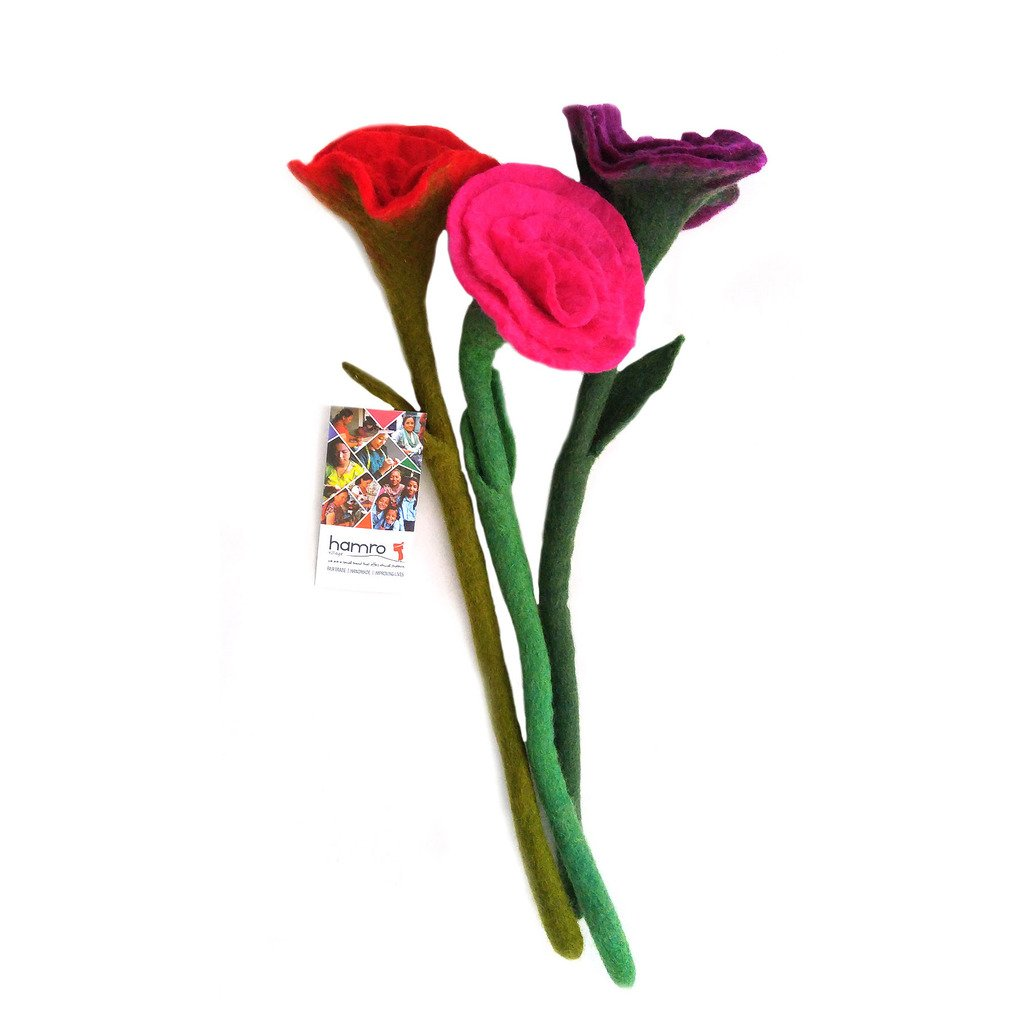 Felt Rose Stem - Sold Individually - Hamro Village