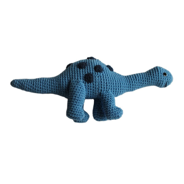 Knit Rattle Brontosaurus - Silk Road Bazaar