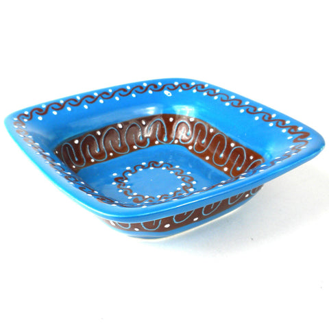 Flared Serving Bowl - Azure Blue - encantada
