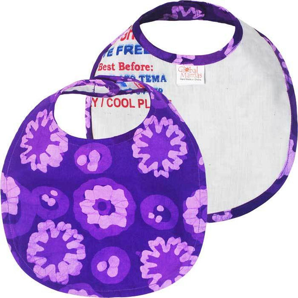 Babies Bib Meadow Purple - Global Mamas