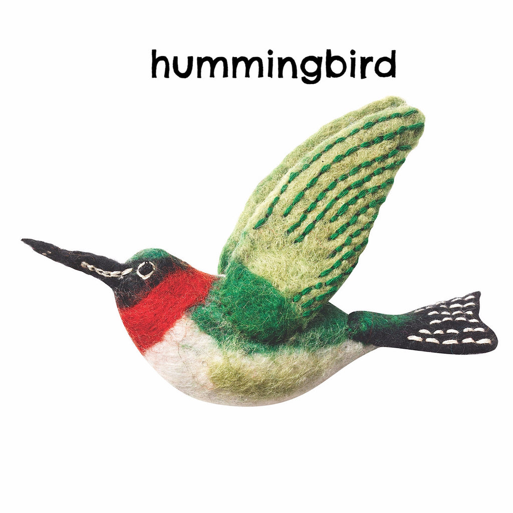 Wild Woolies Natural Felt Bird Ornaments - Green Sea Eco  - 1