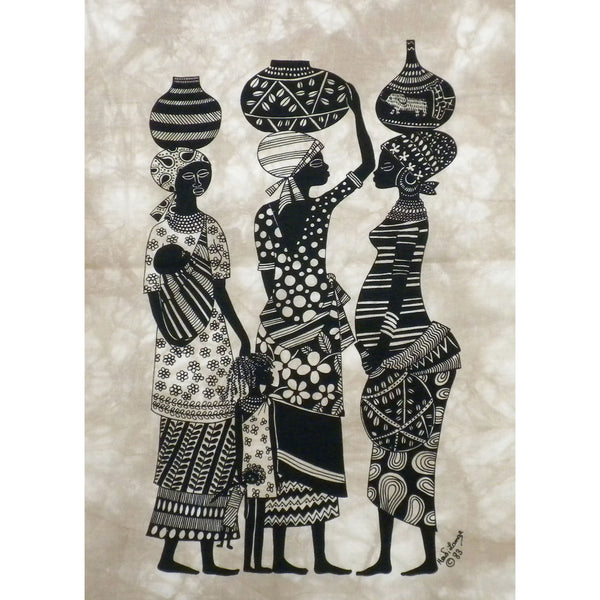 Market Women Heidi Lange Screen Print - Green Sea Eco