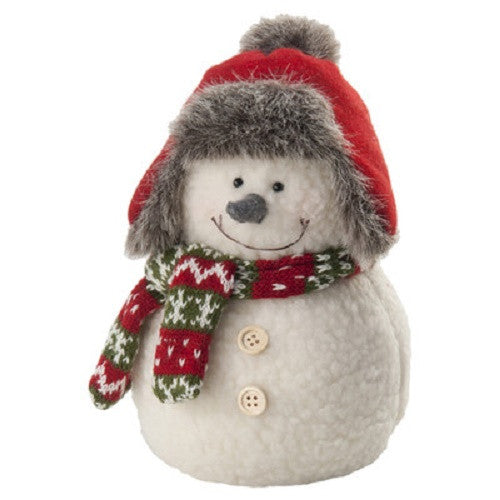 "Holiday Figurines 9"" Pudgy Snowman - Green Sea Eco  - 1"