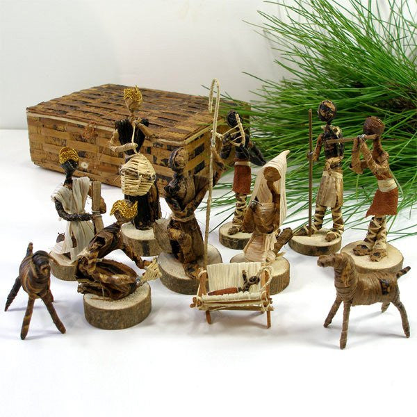 Banana Fiber Nativity Set - Kenya - Green Sea Eco