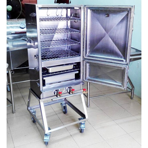 Smoker 4 Rack Double Door