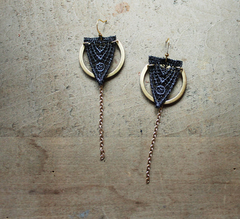 orla lace earrings