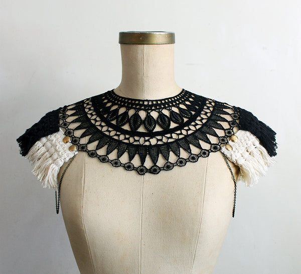 anouk lace and fringe body harness