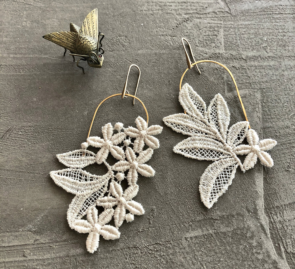 cressida asymmetrical earrings