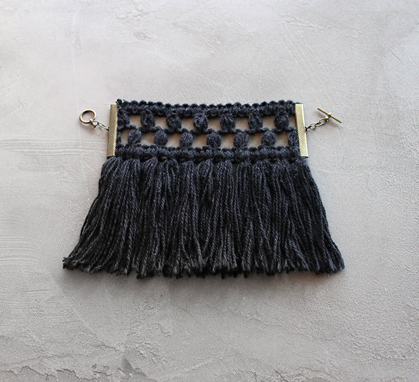 rasa black fringed bracelet