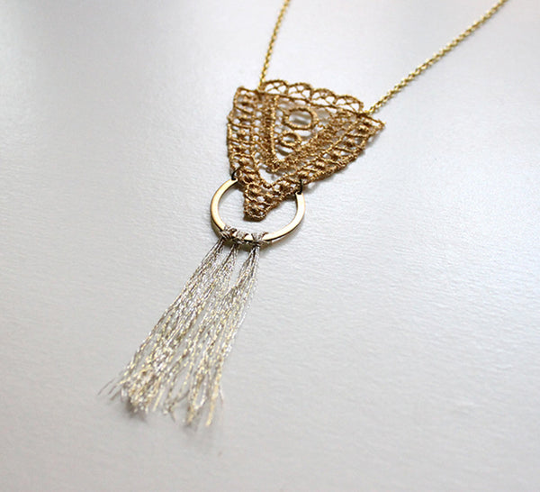 chrysos lace necklace