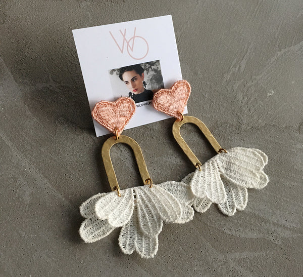mignonne heart earrings