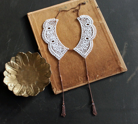 delphine lace collar necklace