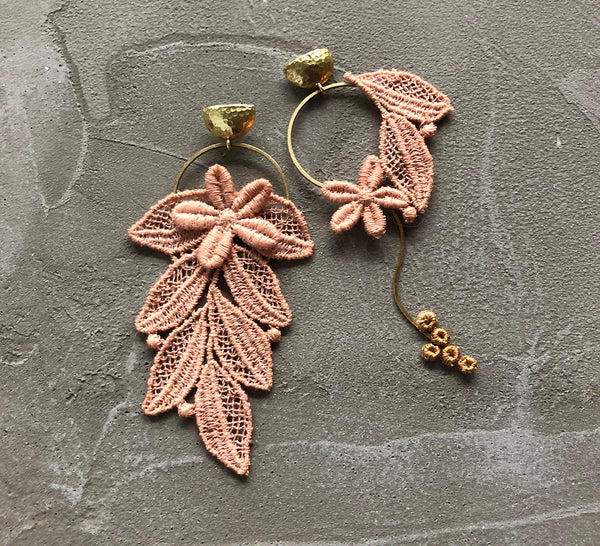 colette asymmetrical earrings