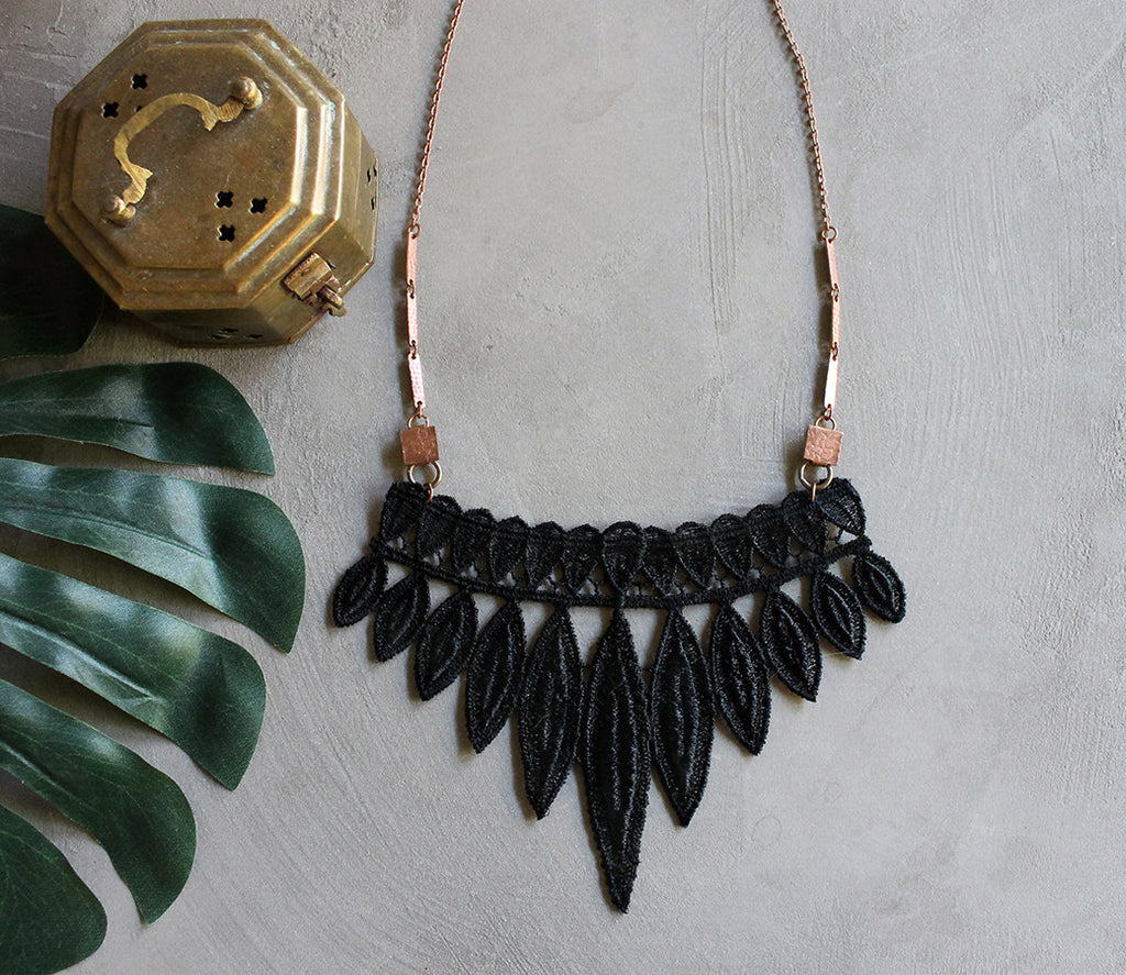 tribe lace necklace